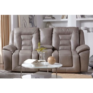 Grid Iron Power Headrest Loveseat w/Console & Next Level Recline