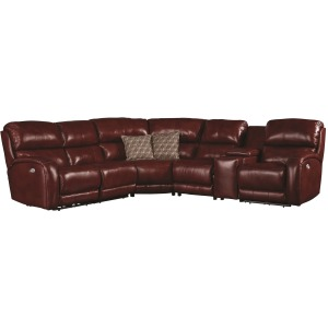 Fandango 6 PC Power Reclining Sectional w/ Power Headrest