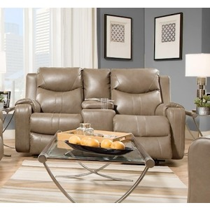 Marvel Power Double Reclining Sofa with Console