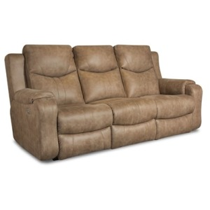 Marvel Double Reclining Sofa with Power Headrest