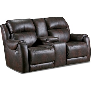 Safe Bet Reclining Loveseat w/ Console