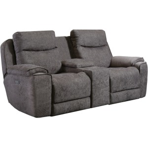 Show Stopper Power Headrest Loveseat with Console & Hidden Cupholders