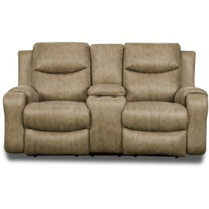 Marvel Power Double Reclining Loveseat with Console