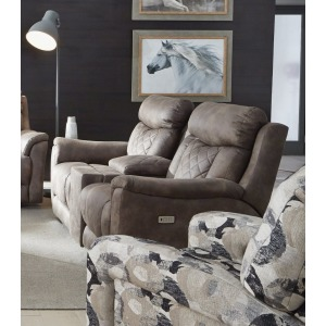 Wow Factor Double Reclining Loveseat with Console & Hidden Cupholders