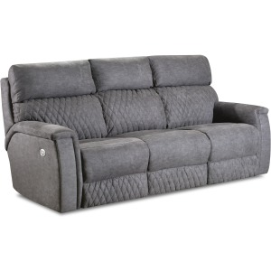 High Rise Power Double Reclining Sofa w/PowerPlus