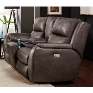 Marquis Power Headrest Loveseat w/Console & Hidden Cupholders