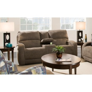 Double Reclining Loveseat with Power Headrest w/SoCozi