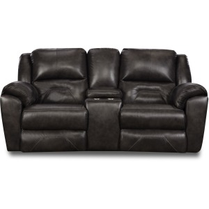 Pandora Double Reclining Console Loveseat w/Power Headrest