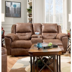 Pandora Double Reclining Loveseat with Console