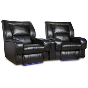 Lay-Flat Recliner with LED CupHolders &Floor Lighting