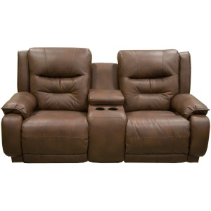Cresent Power Reclining Loveseat with Console