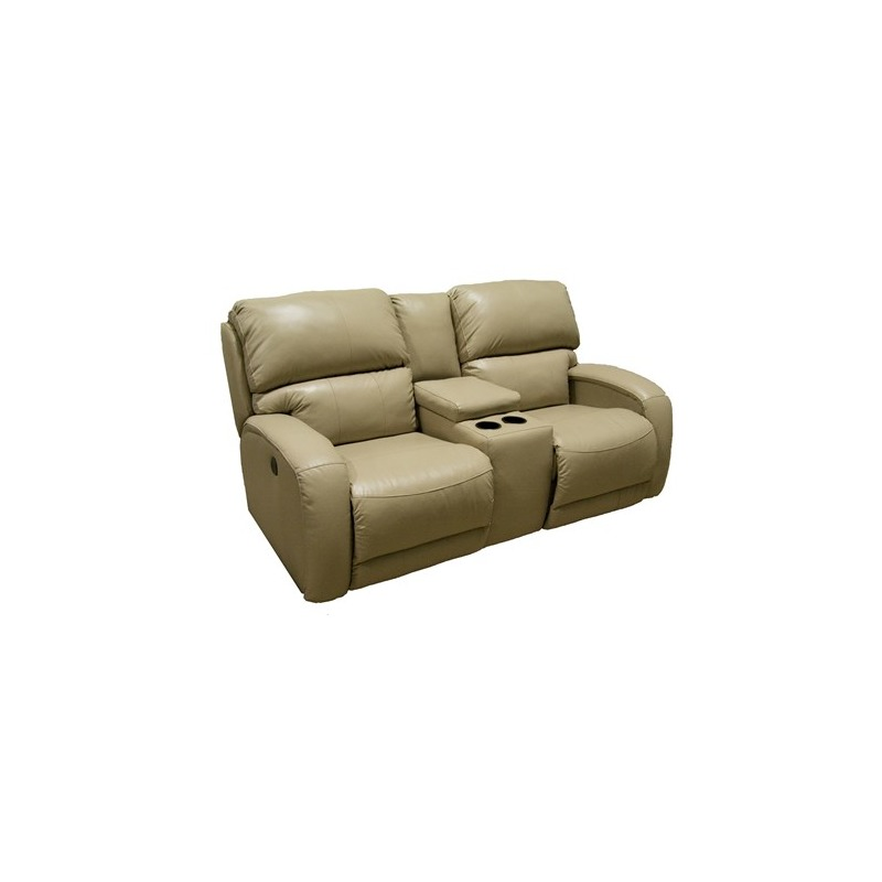 Fandango Double Reclining Sofa with Console and Power Headrest