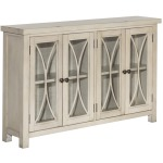 4 Drawer Console Cabinet