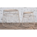 Set of 2 Tan Tables