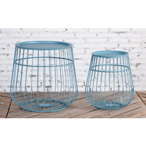 Set of 2 Blue Tables