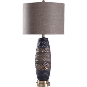 Navy Bronze Table Lamp