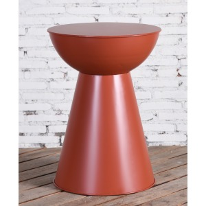 Terra Cotta Metal Side Table
