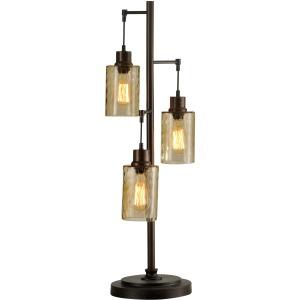 Three Light Edison Table Lamp