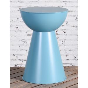 Blue Metal Side Table