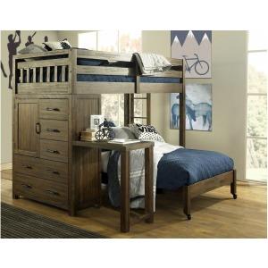 Twin Loft Bed w/ Desk & Full Bed