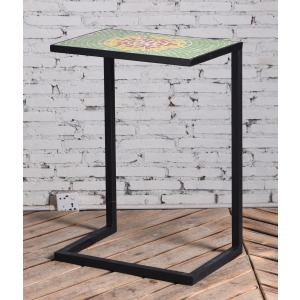 Green Multi Tile Accent Table