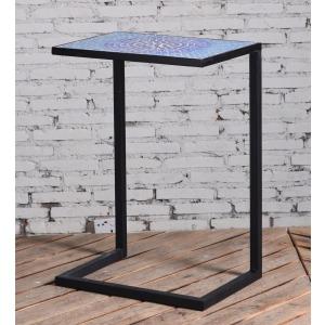 Blue Tile Accent Table