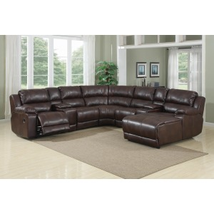 6PC Reclining Sectional
