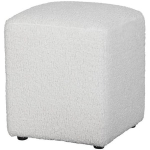 Stacy Ottoman - Sheepskin Natural