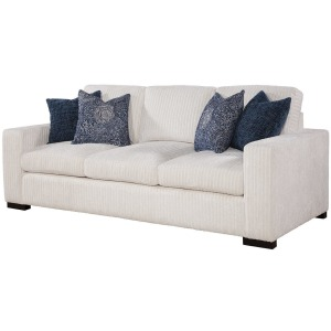 Newport Sofa - Drama Canvas w/Ingram Chambray/Norse Pillows