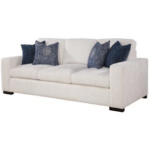 Newport Sofa - Drama Canvas w/Ingram Chambray/Norse Pillows