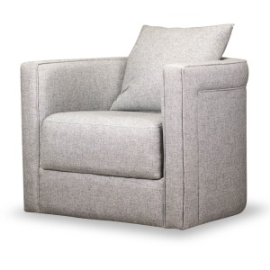 Adrian Swivel Chair - Durbin Light Gray
