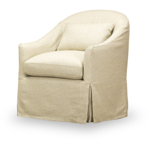 Becky Slipcovered Swivel Chair in Tribecca Natural