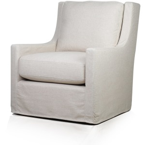 Myles Slipcover Swivel Glider - Windfield Natural