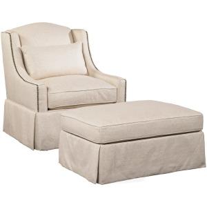 Halston Chair & Ottoman