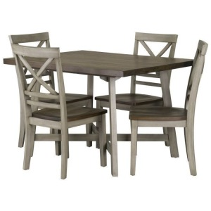 Fairhaven Dining Table and Four Chairs Set - Grey