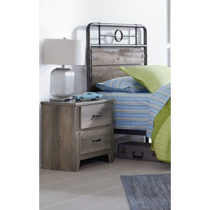 Barnett 2 Drawer Nightstand