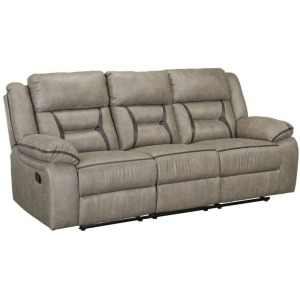 Acropolis Manual Motion Reclining Sofa with Power Strip