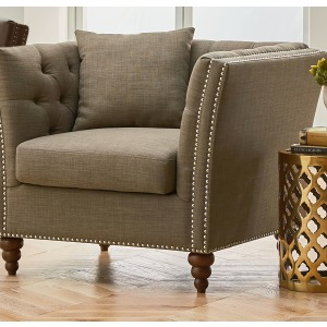 Westerly UPH Chocolate Chair W/ Pillow