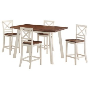 Amelia Counter Height Dining Set w/Four Chairs