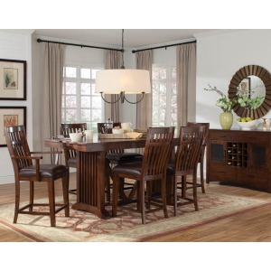 Artisan loft counter height table, w/18 in. leaf