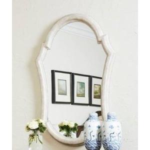 Thoroughbred Diva Portrait Mirror - White Gesso