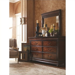 Louis Philippe Dressing Chest & Mirror