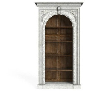 Thoroughbred Citation Bookcase - White Gesso