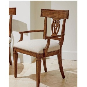 Old Town Wood Back Arm Chair - Barrister