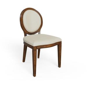 Hillside Oval Side Chair - Chestnut