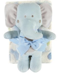 Blue Elephant Blanket Toy Set