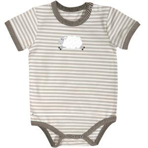 6-12mo Stripe Lamb Snapshirt