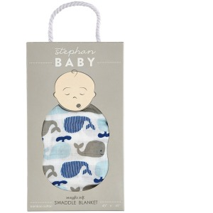 Whale Bamboo Swaddle Blanket