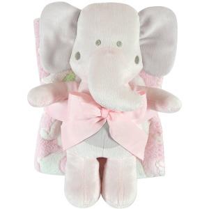 Pink Elephant Blanket Toy Set