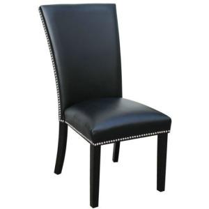 Camila Black Side Chair w/Nailheads